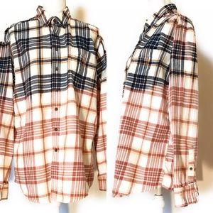 Croft & barrow flannel, Sz xl, Snagz custom bleach